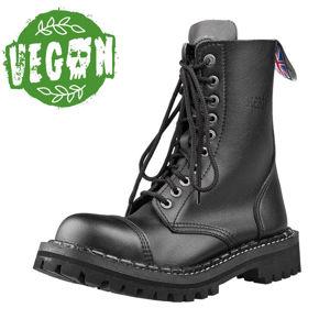 boty kožené STEADY´S 10 dírkové černá 42