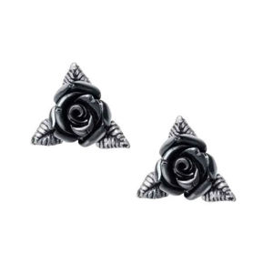 náušnice ALCHEMY GOTHIC - Ring O' Roses - Pewter - E447